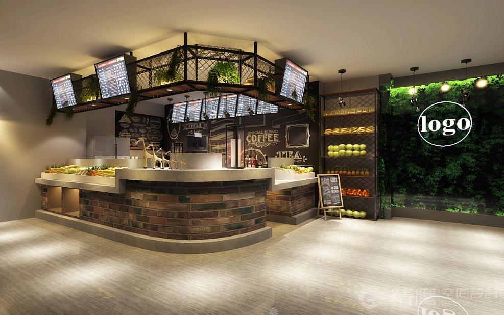 鲜榨果汁店_来一点鲜榨果汁水吧 终端SI设计餐饮店设计_服装店设计_超市设计 ...